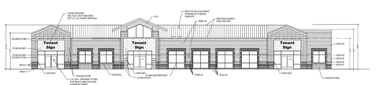 Maple Row drawing of approved building